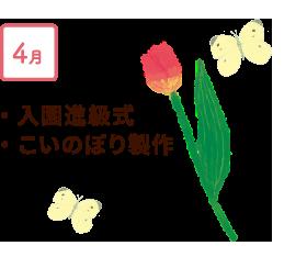 4月 入園進級式、こいのぼり製作